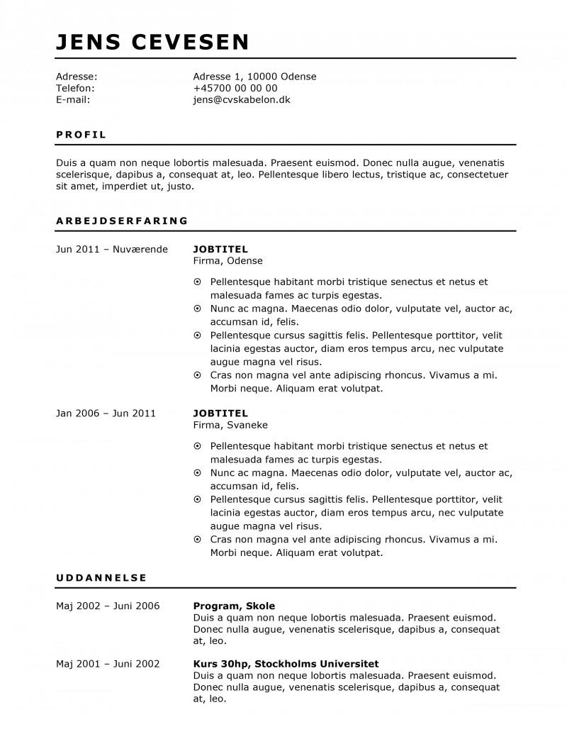 CV skabelon